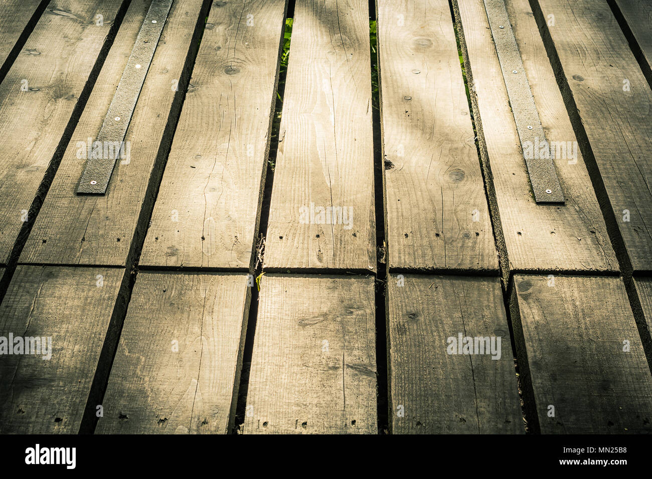 Old, wooden planks board, background - Stock Image