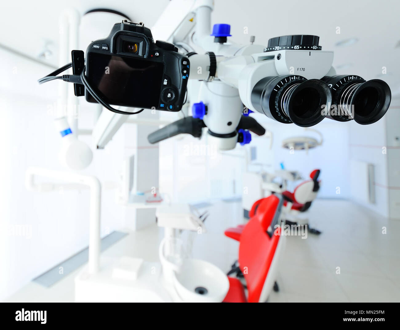 dental microscope closeup - Stock Image