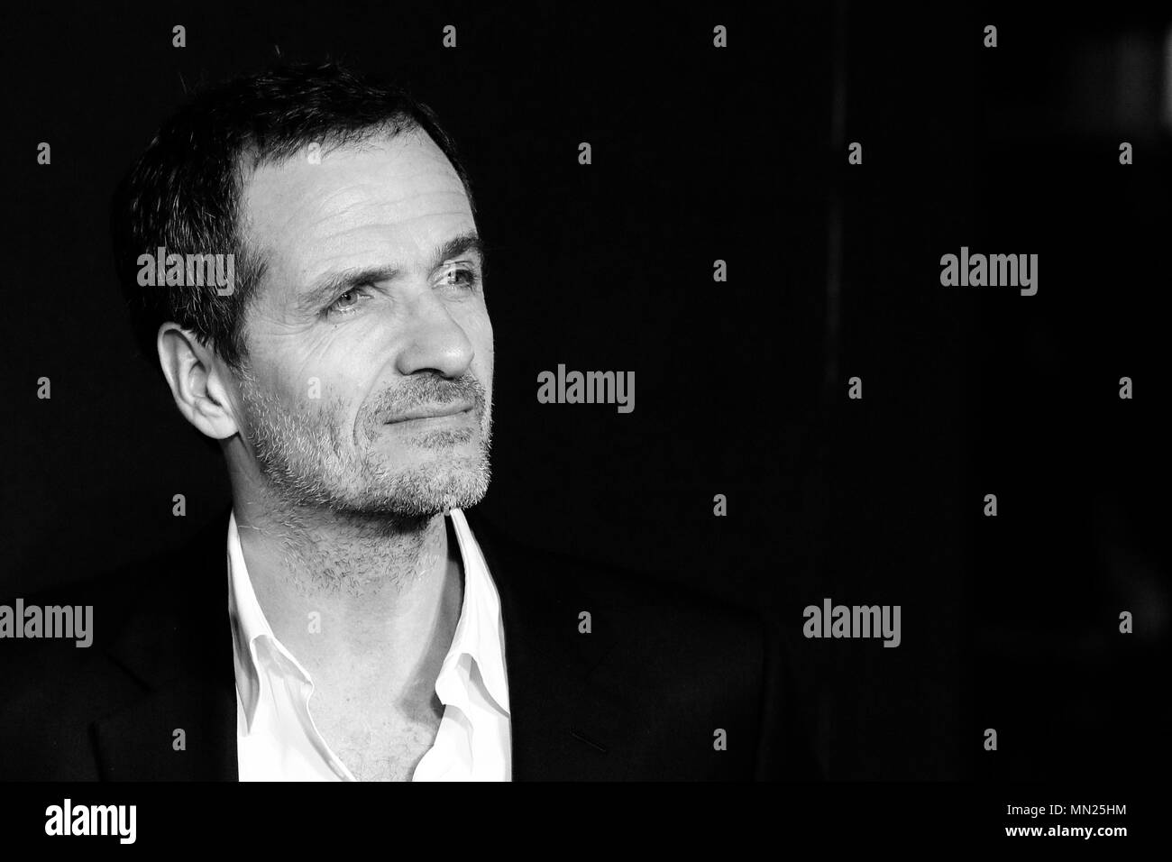 LONDON, ENGLAND - NOVEMBER 15: (Editors Note: Image Converted to Black and White) Director David Heyman attends the European premiere of 'Fantastic Beasts And Where To Find Them' at Odeon Leicester Square on November 15, 2016 in London, England. - Stock Image