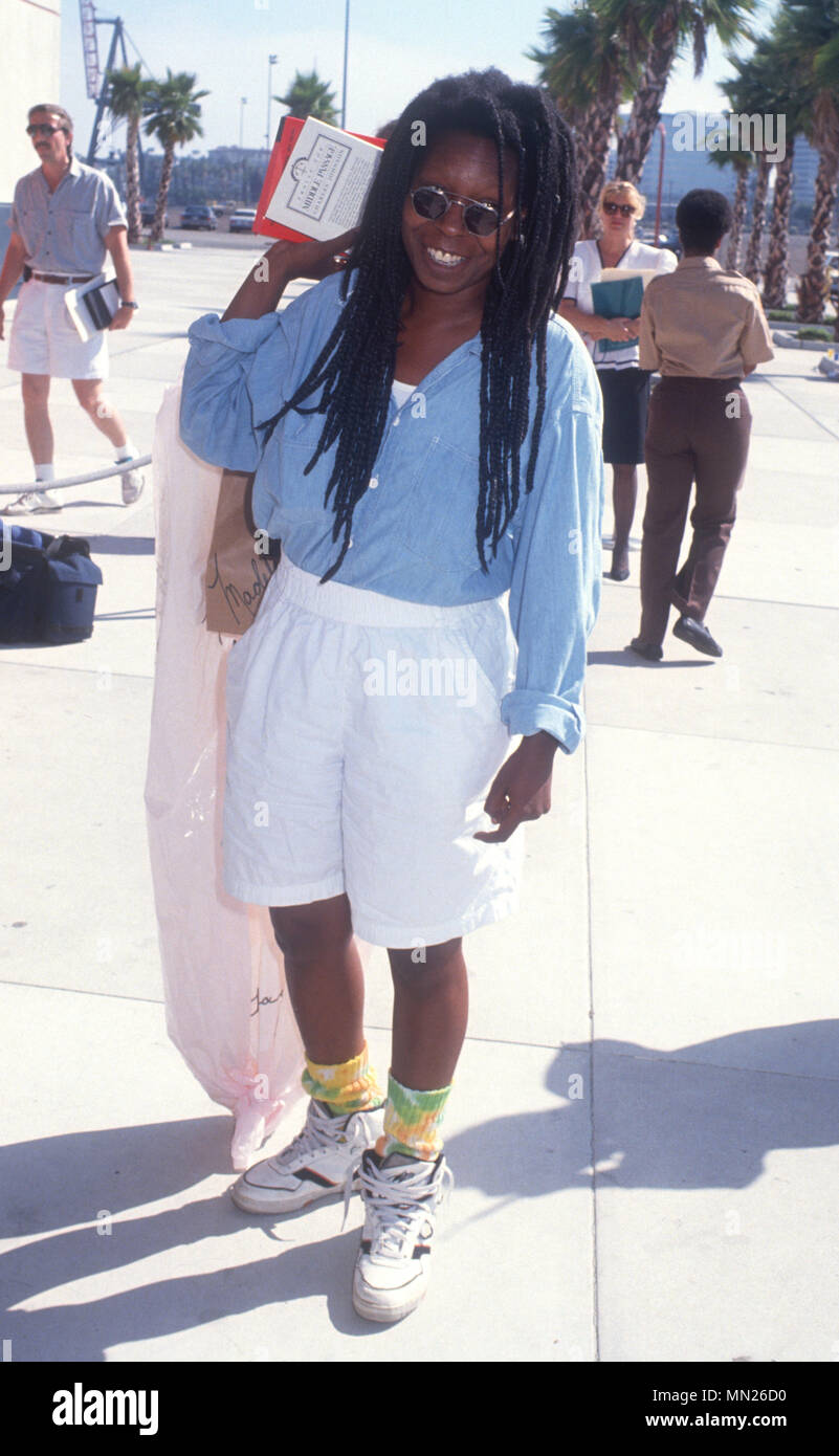 LOS ANGELES, CA - JULY 21: Actress Whoopi Goldberg  attends black tie dinner honoring Whoopi Goldberg with Children's Choice Award on Crystal Harmony Cruise Ship on July 21, 1990 in Los Angeles, California. Photo by Barry King/Alamy Stock Photo - Stock Image