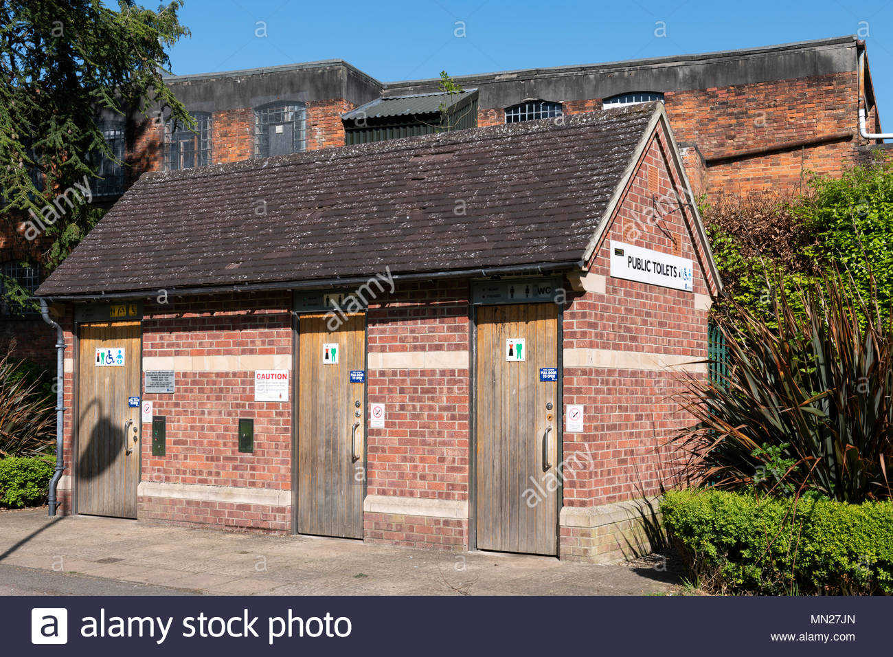 Park toilets, Trowbridge, Wiltshire, England, UK Stock Photo
