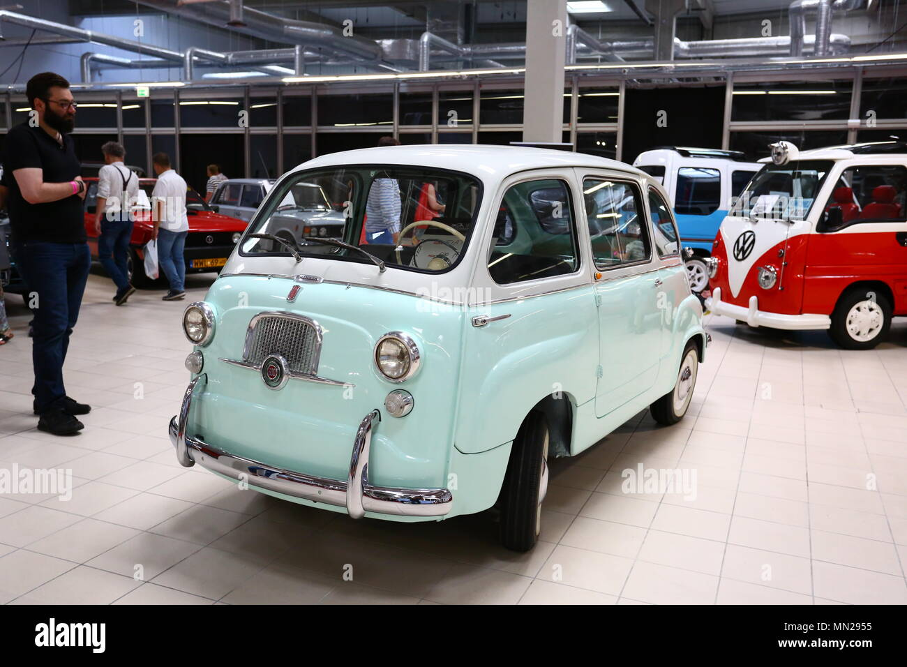 Warsaw/Nadarzyn, Poland. 13th May, 2018. PTAK expo center second day of Oldtimer Show. Credit: Madeleine Lenz/Pacific Press/Alamy Live News - Stock Image
