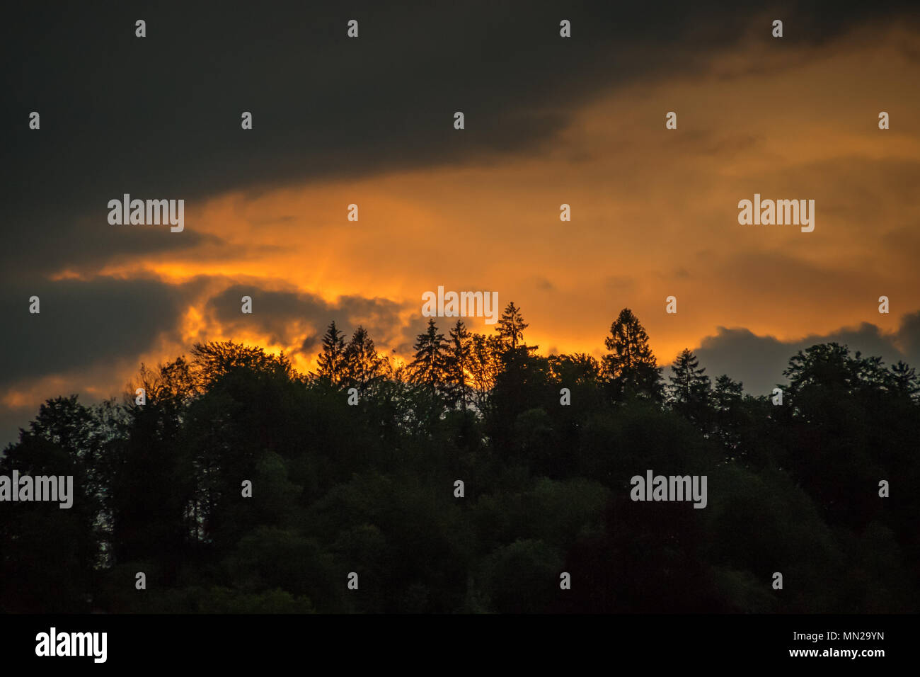 Sunset Alps - Stock Image