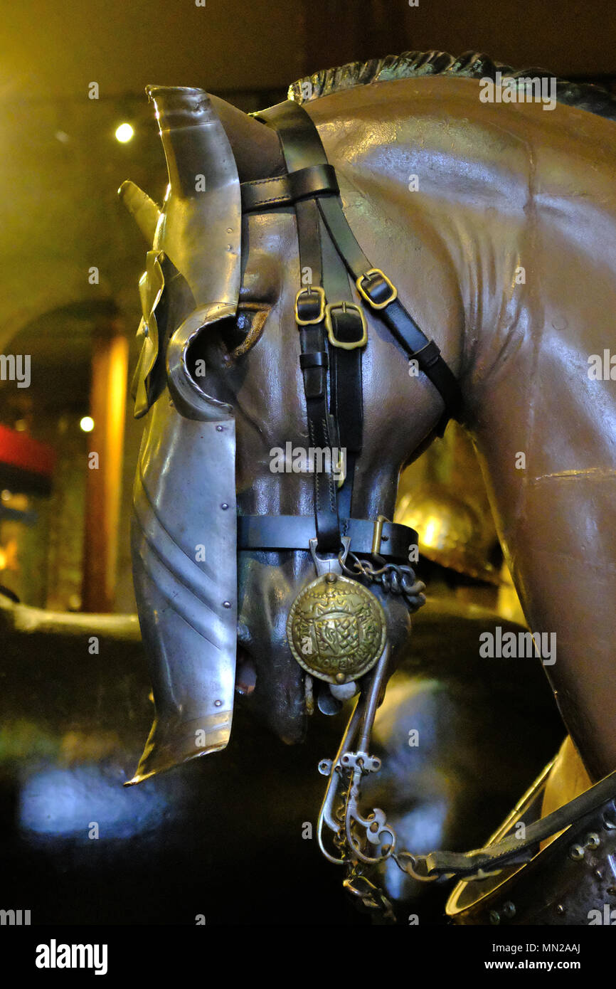 The Armoury at The Tower of London UK - Stock Image