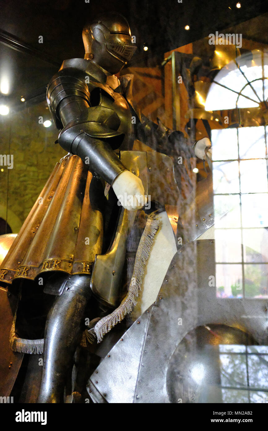 Henry the VIII Armour at The Tower of London UK - Stock Image