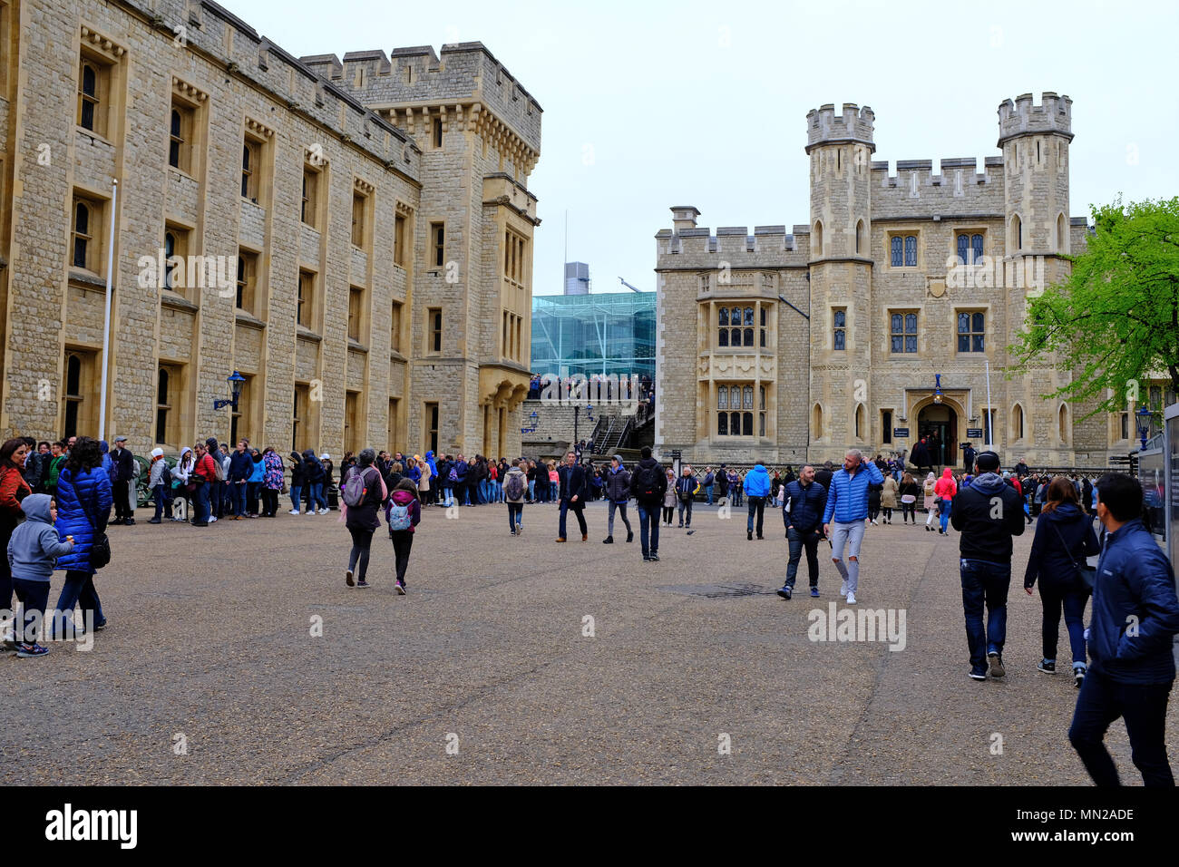 Jewel House at The Tower of London UK - Stock Image