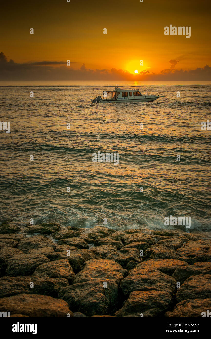 boat by bali - Stock Image