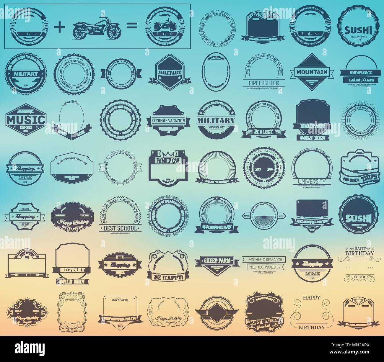Make your labels or Logotypes concept collection set. - Stock Image