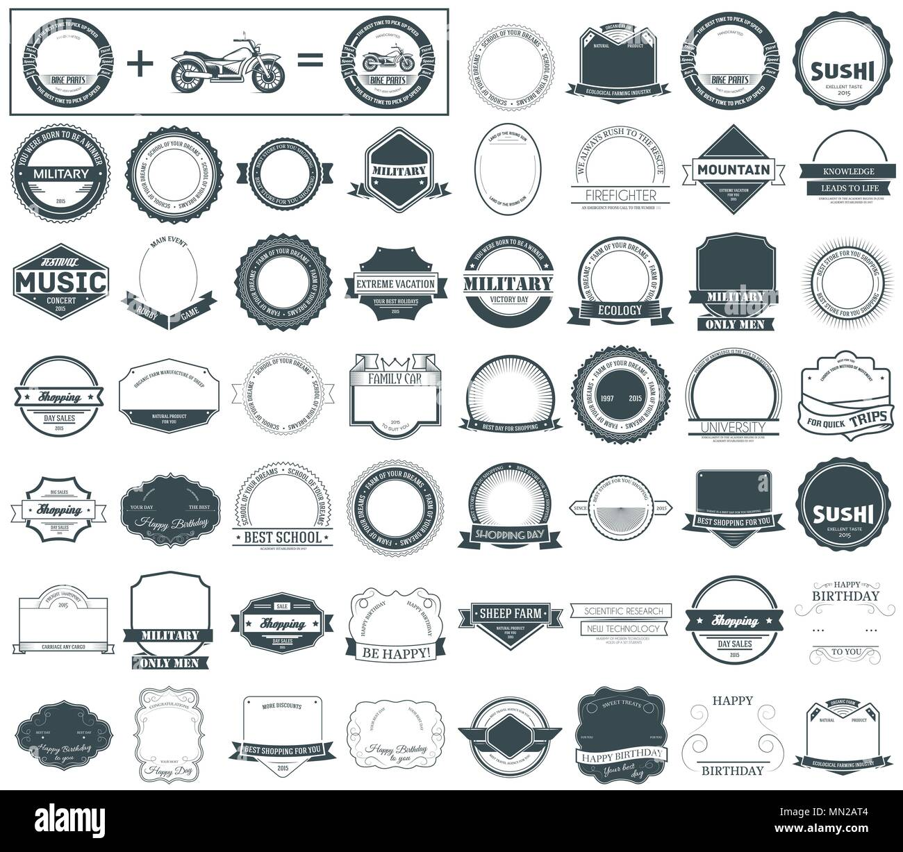 Make your labels or Logotypes concept set. - Stock Image