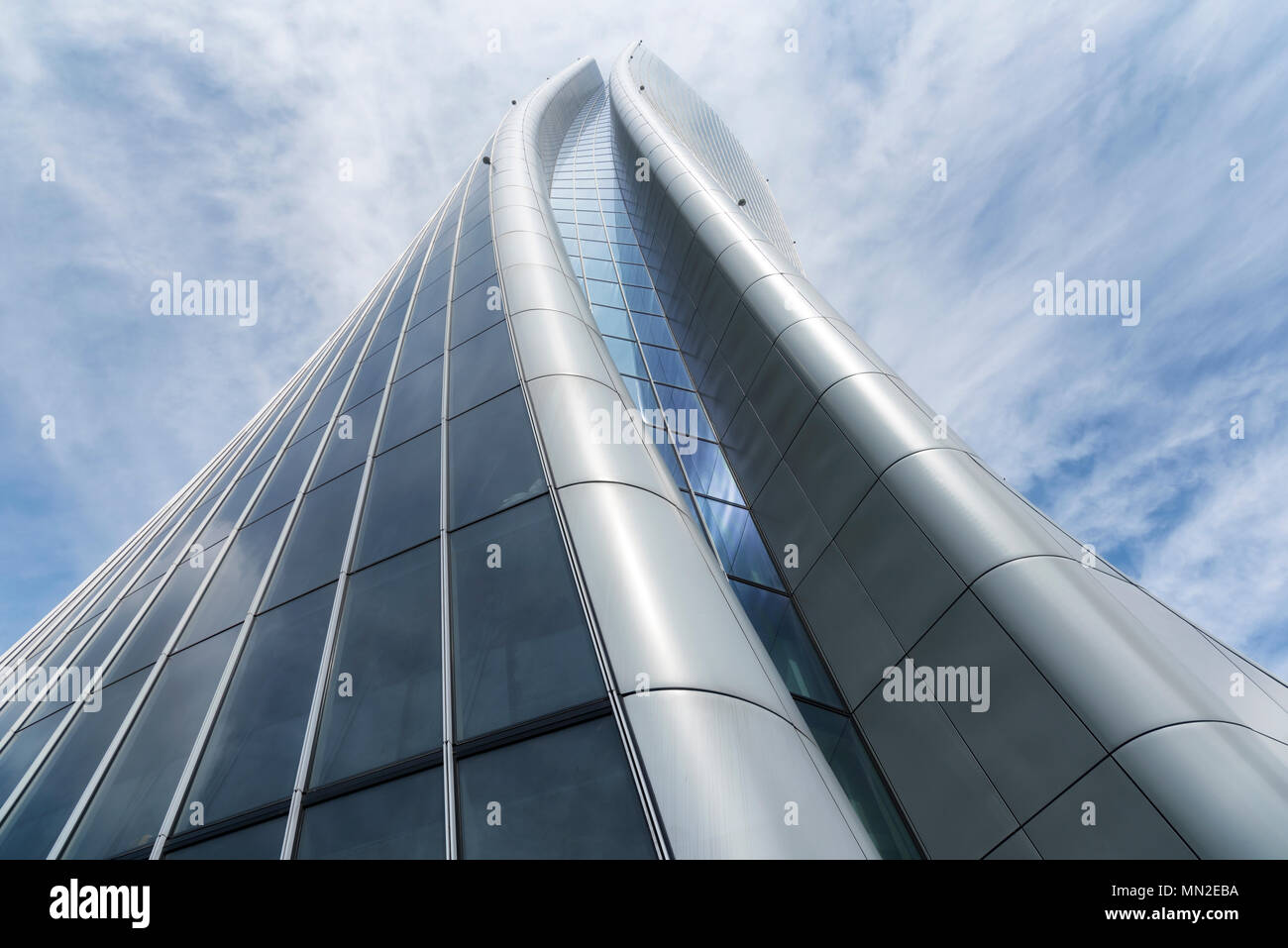 Milan, Italy - May 13, 2018: the Hadid tower in the Citylife new district - Stock Image