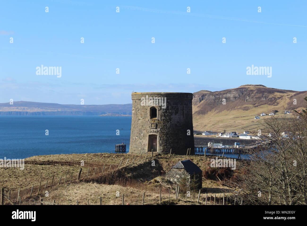 Tower at Eug, Isle of Skye - Stock Image