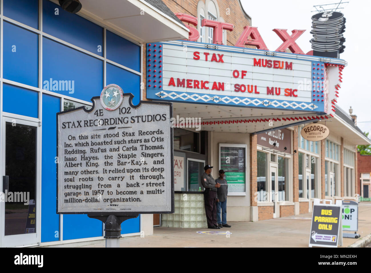 Memphis, Tennessee - The Stax Museum of American Soul Music, the former location of Stax Records. - Stock Image