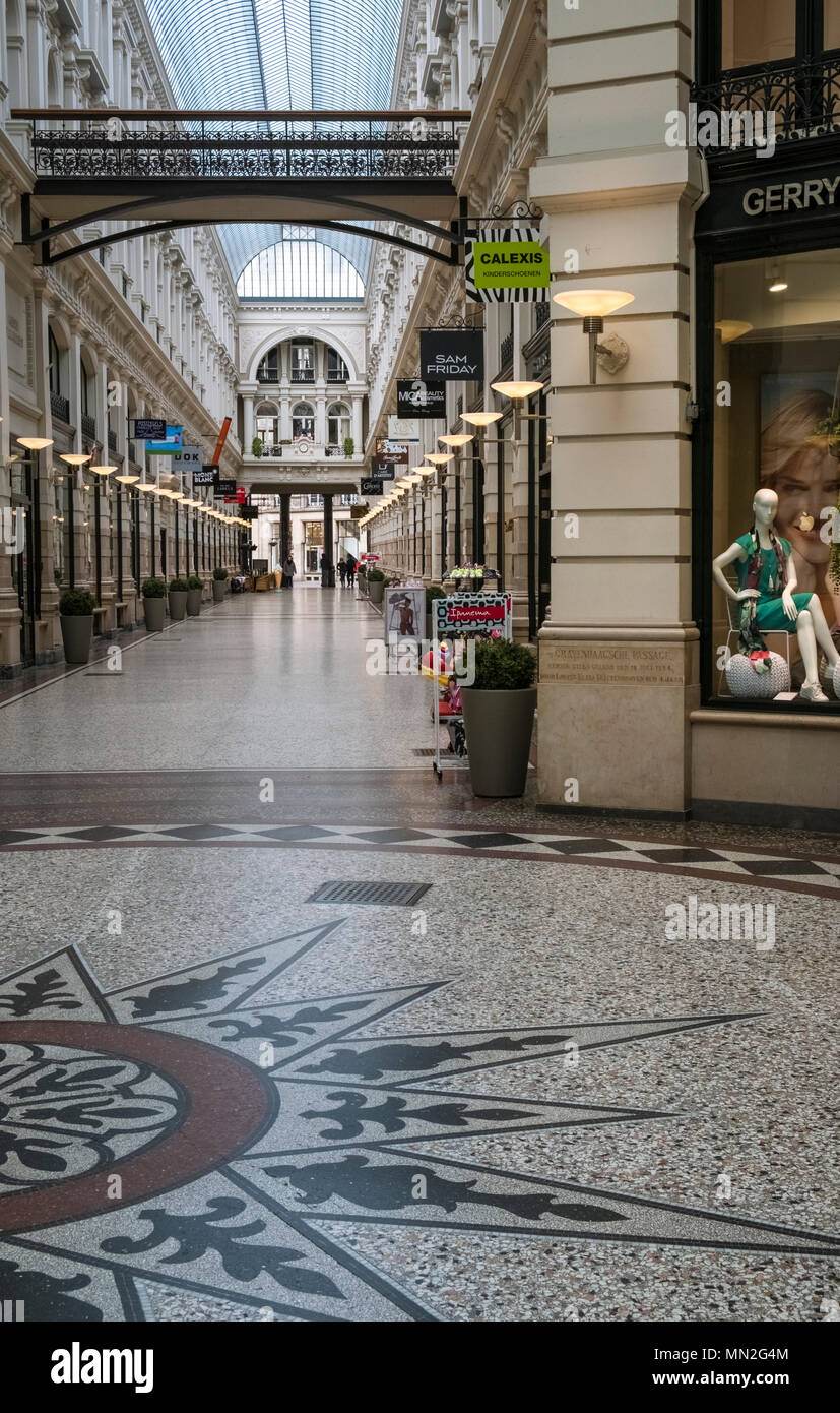 Section Of The Passage Shopping Mall Containing An Upmarket