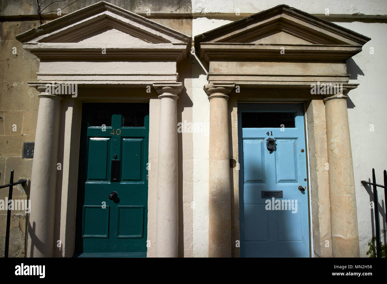 Wooden Six Panel Doors In Architrave With Pediment On Pilasters With  Consoles Doors To Georgian Townhouses