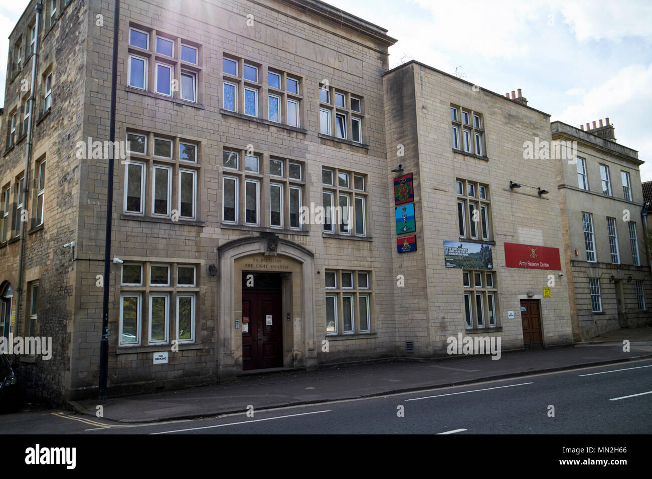 Bath Army Reserve Centre former territorial army centre in the former albion cabinet works building lower bristol road bath England UK former 6th batt - Stock Image