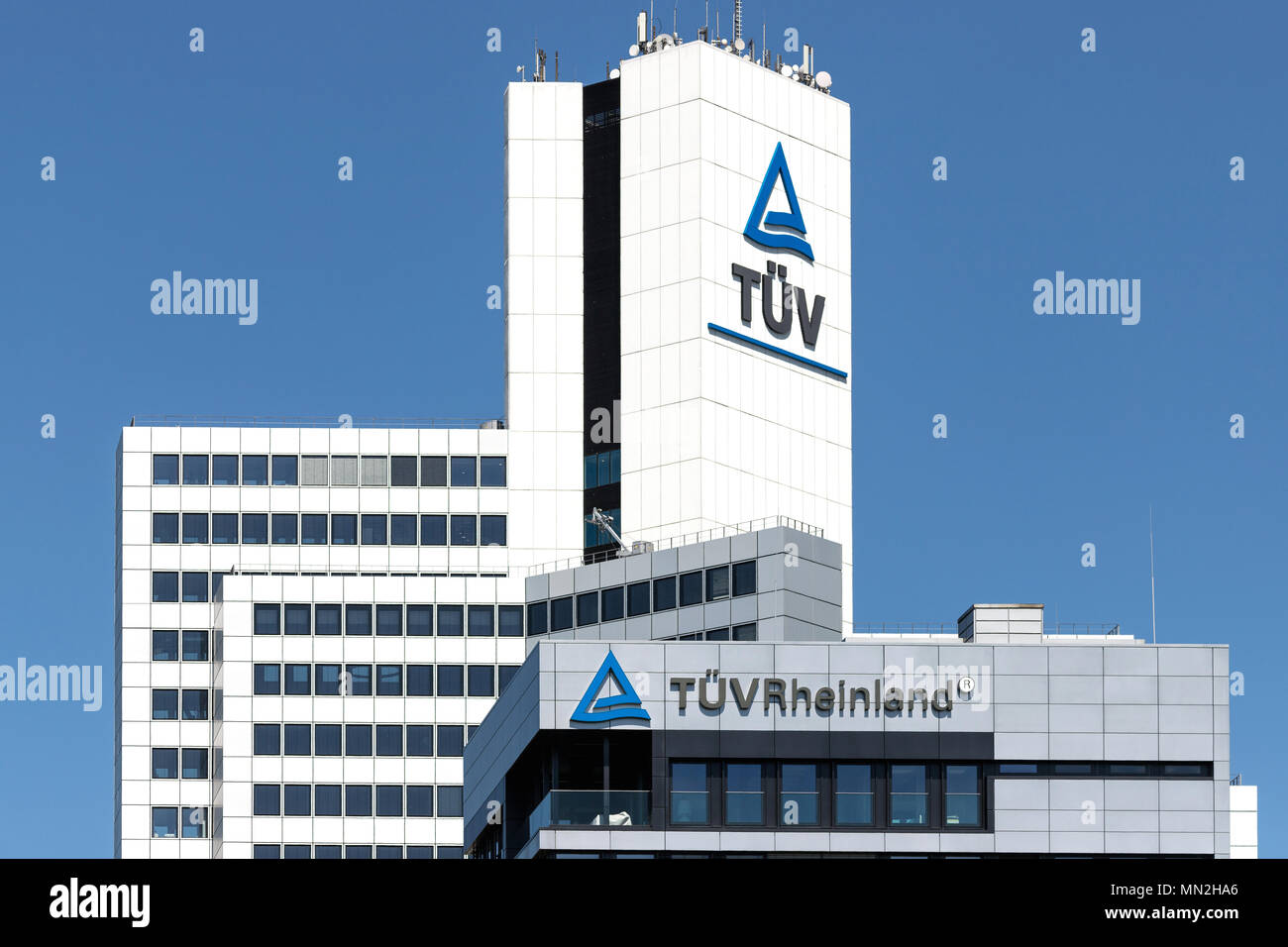 Headquarters of TÜV Rheinland in Cologne, Germany. Founded in 1872, TÜV Rheinland is one of the world's leading testing service providers. - Stock Image