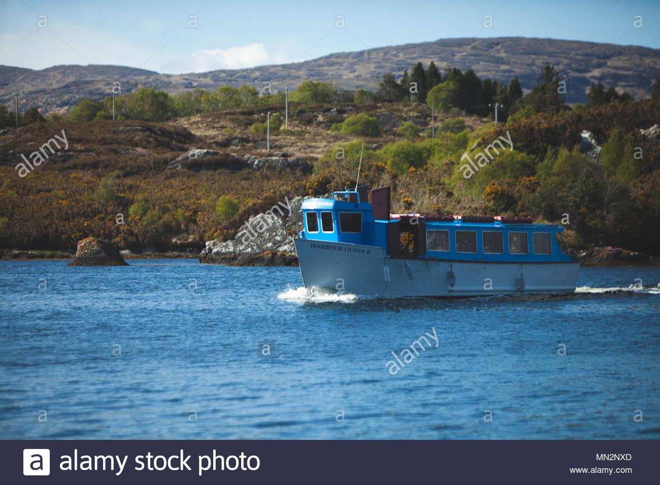 Ferry from Glengarriff to Garinish Island West Cork Ireland - Stock Image