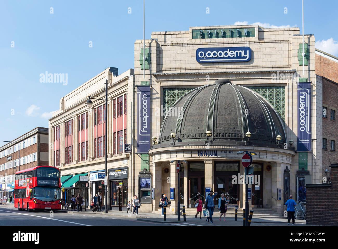 O2 Academy Brixton, Stockwell Road, Brixton, London Borough of Lambeth, Greater London, England, United Kingdom - Stock Image