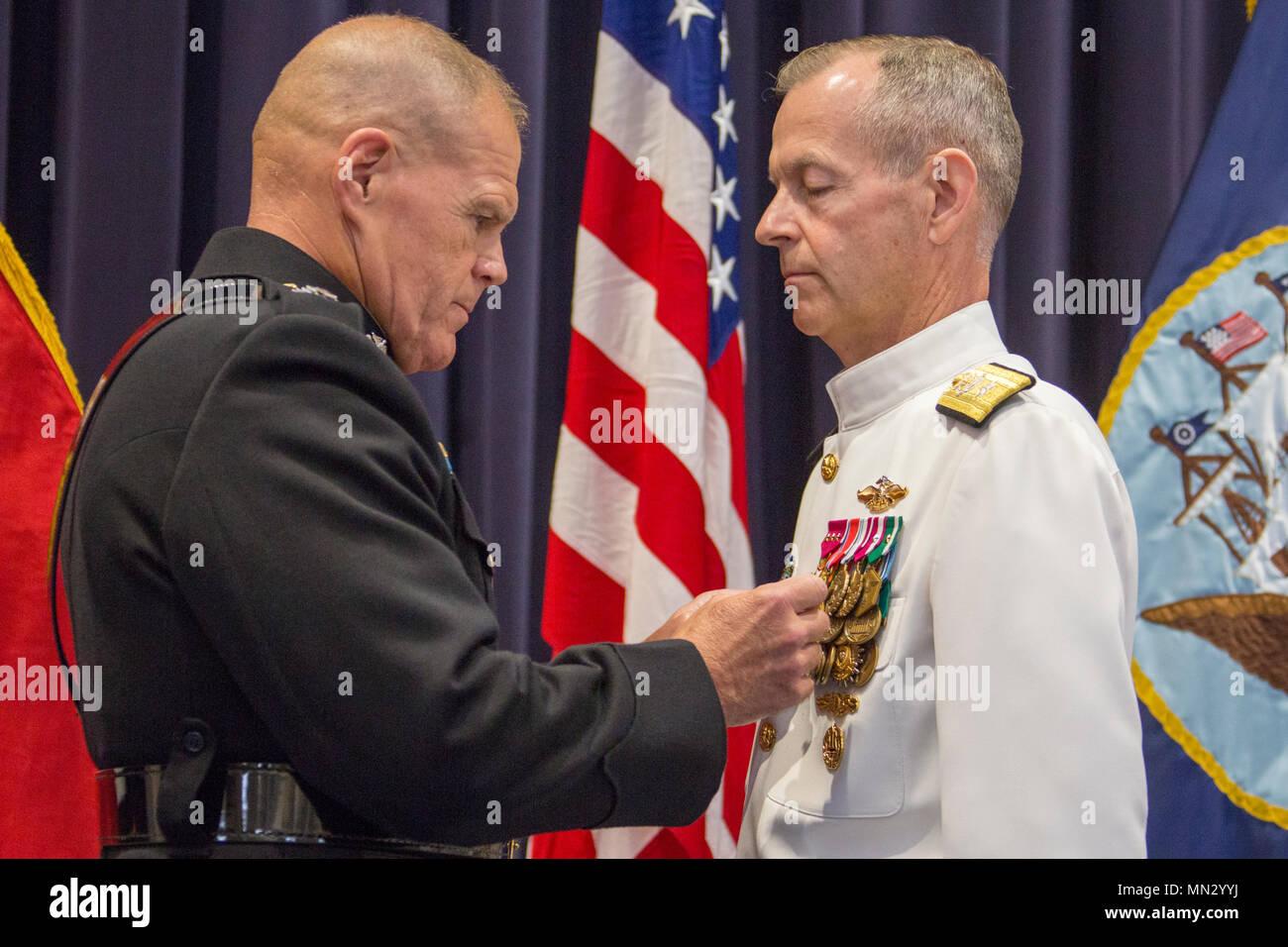 Commandant of the Marine Corps Gen  Robert B  Neller, left