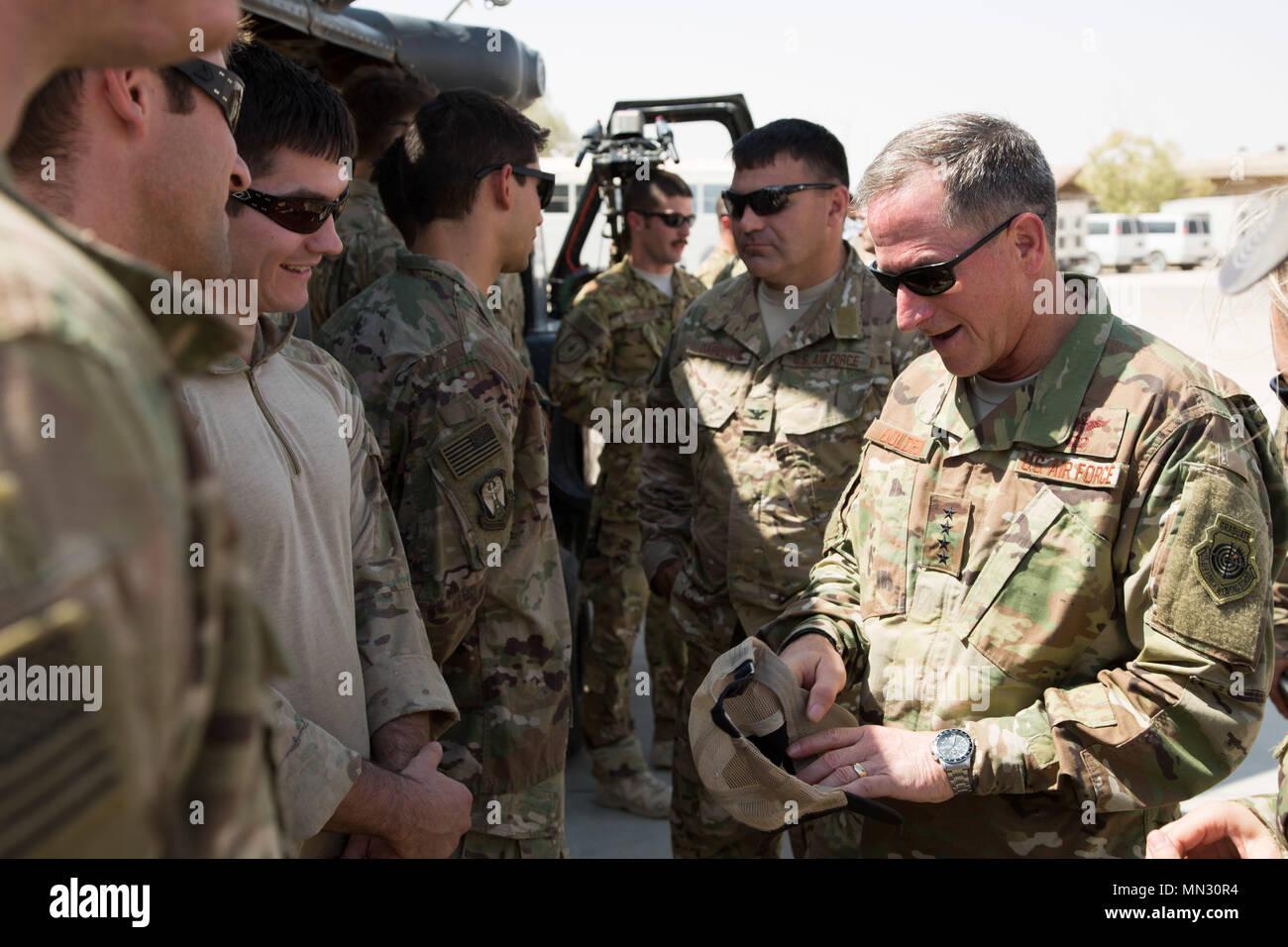 U S  Air Force Chief of Staff Gen  David Goldfein receives a