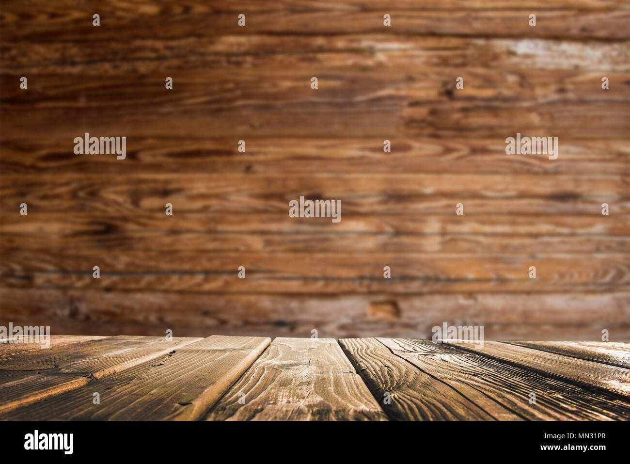 table background white empty wood table with defocused vertical background stock