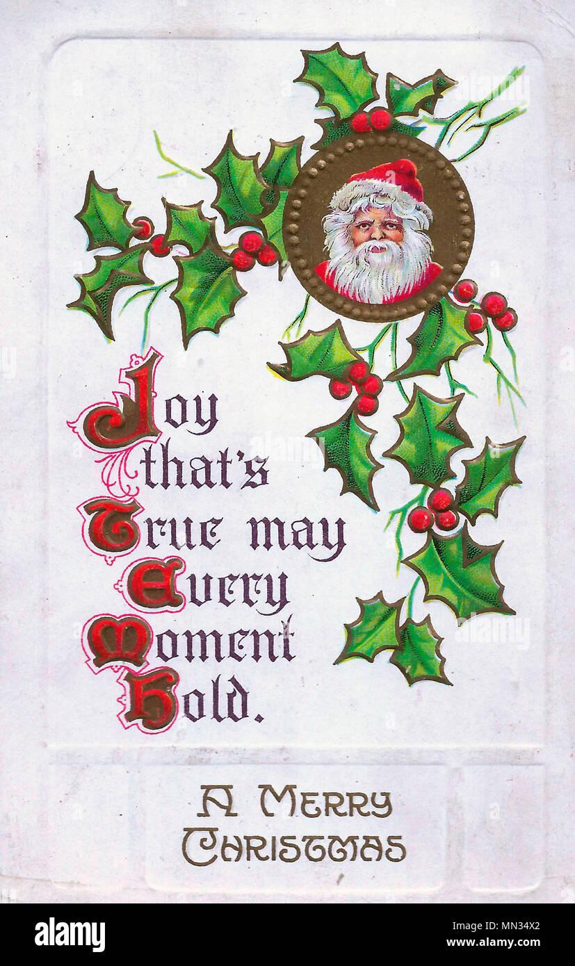 a merry christmas vintage christmas post card