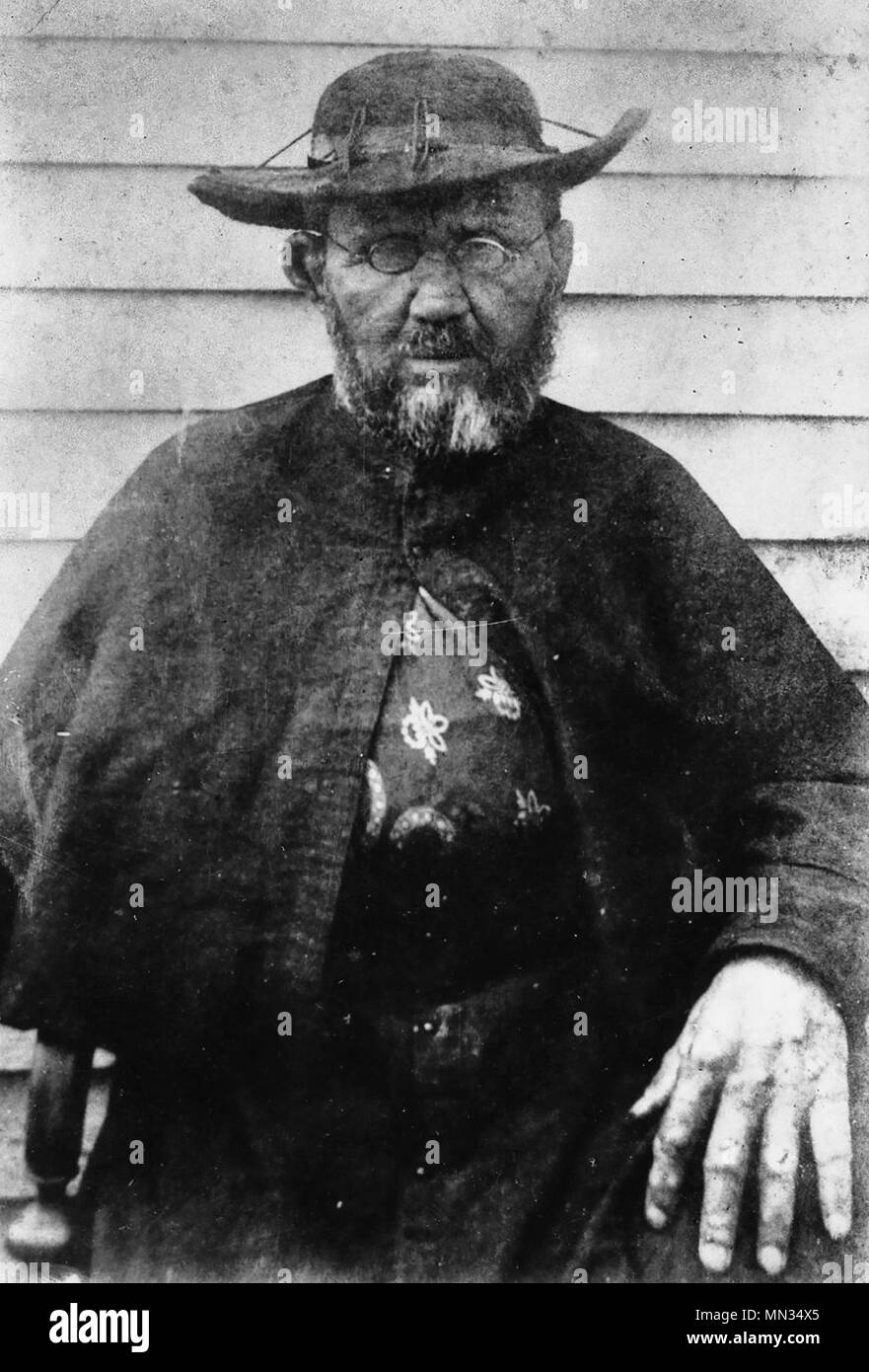 Father damien taken in 1889 either late february or march weeks before his