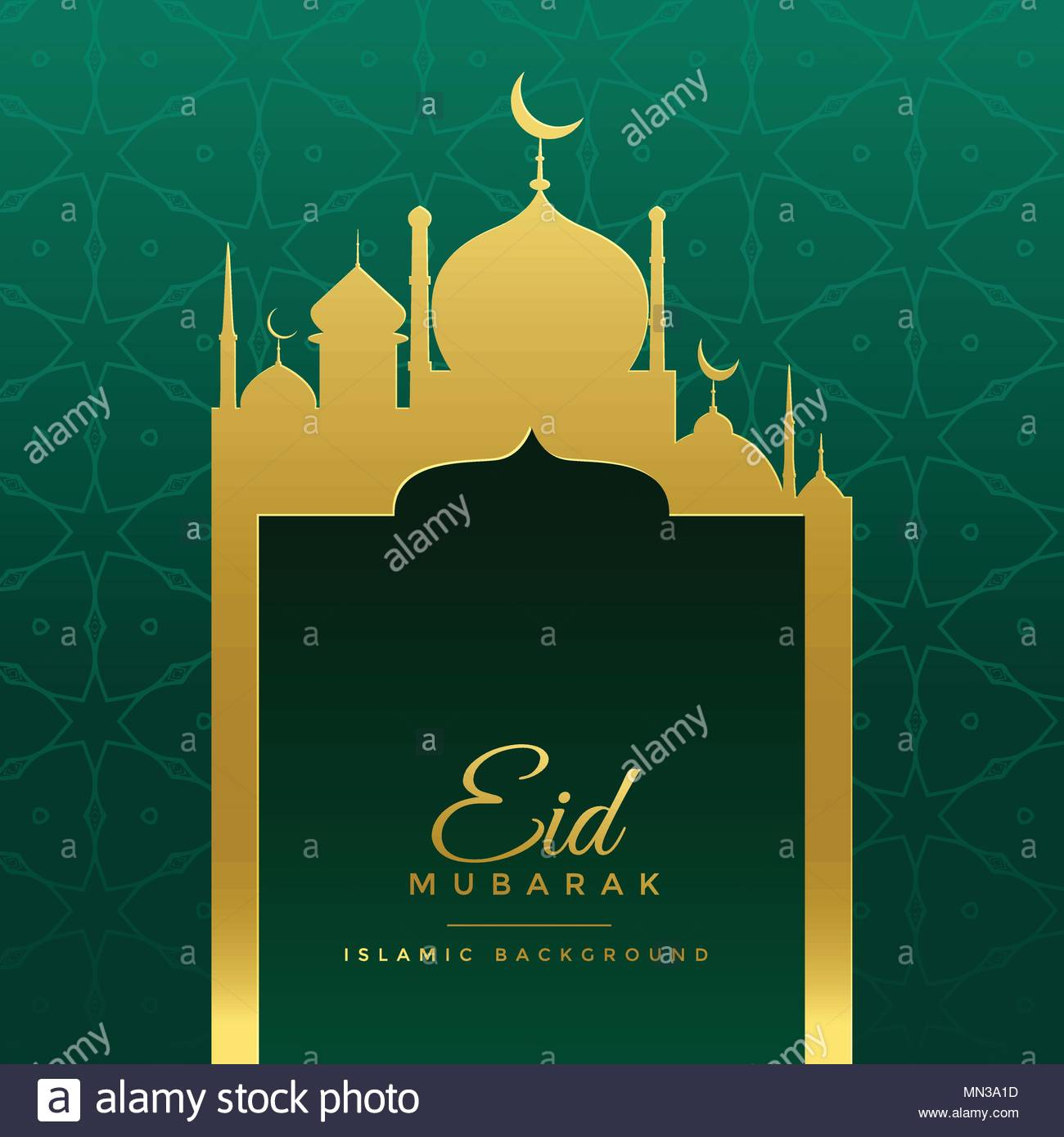 Eid mubarak wishes greeting with golden mosque stock vector art eid mubarak wishes greeting with golden mosque m4hsunfo