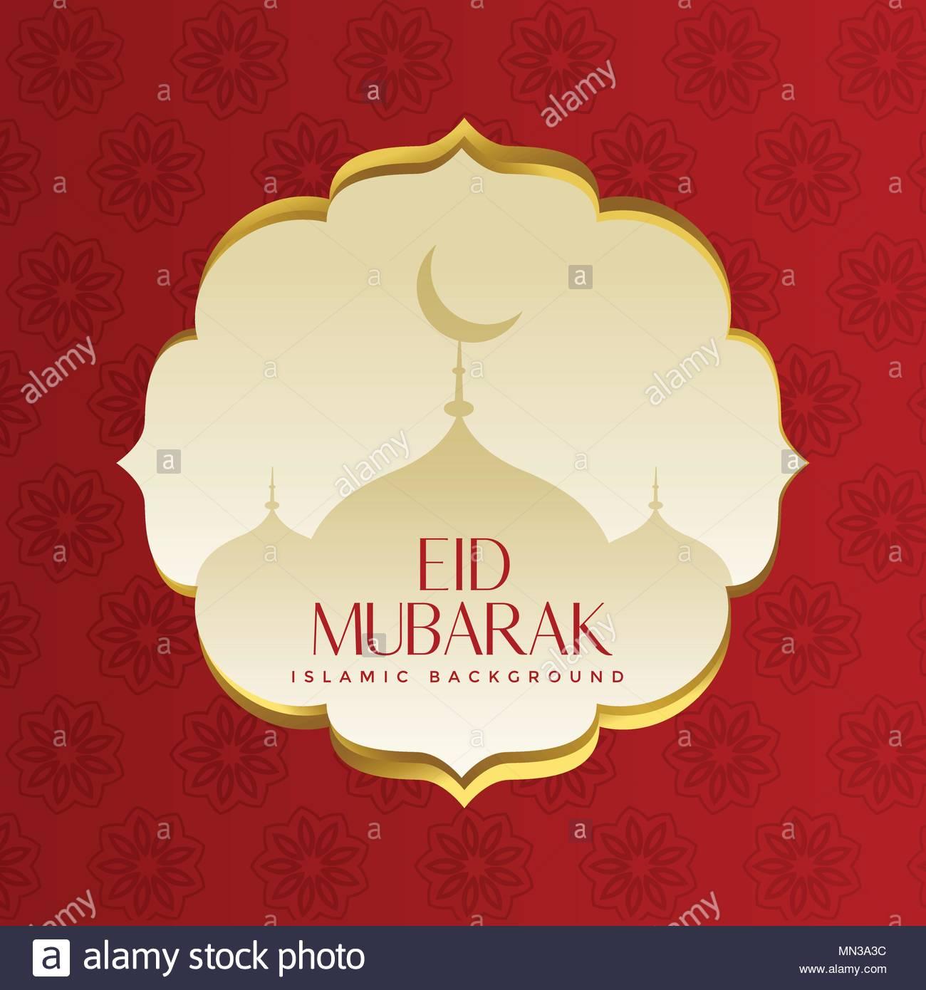 Muslim islamic eid festival greeting design stock vector art muslim islamic eid festival greeting design m4hsunfo
