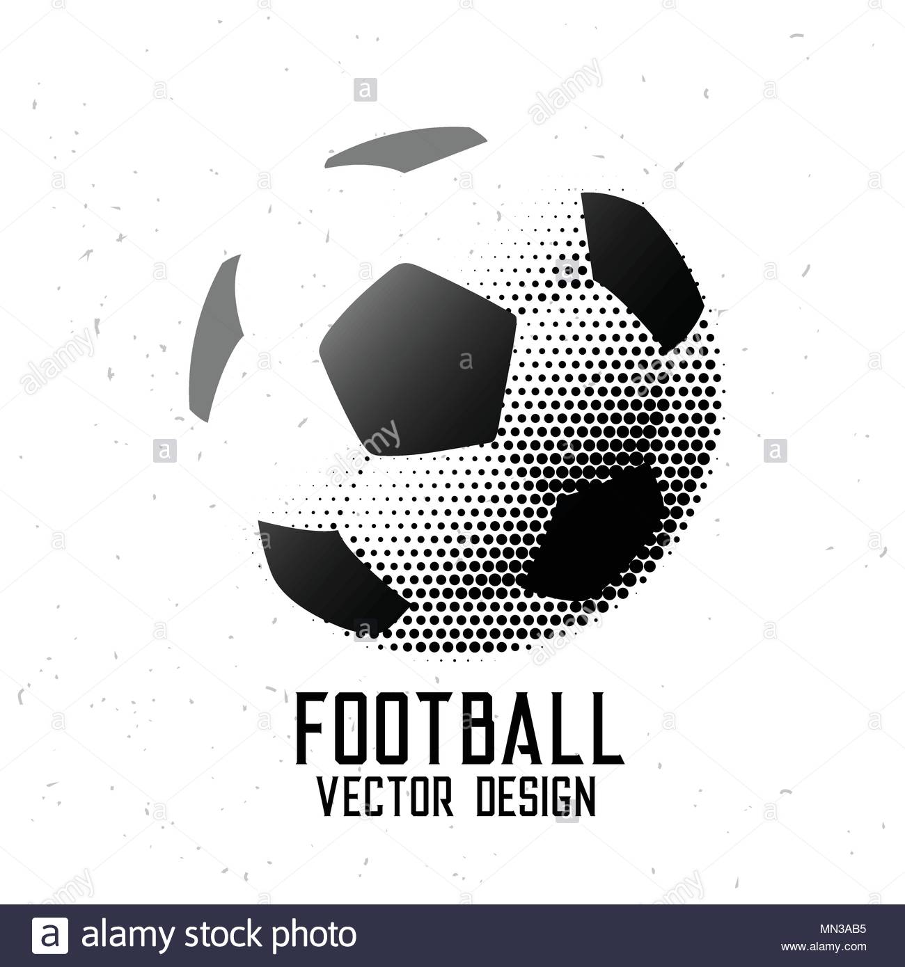 Soccer football halftone abstract design stock image