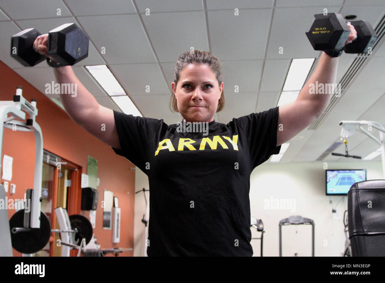 Sgt  1st Class Megan Simpson, an administrative specialist with