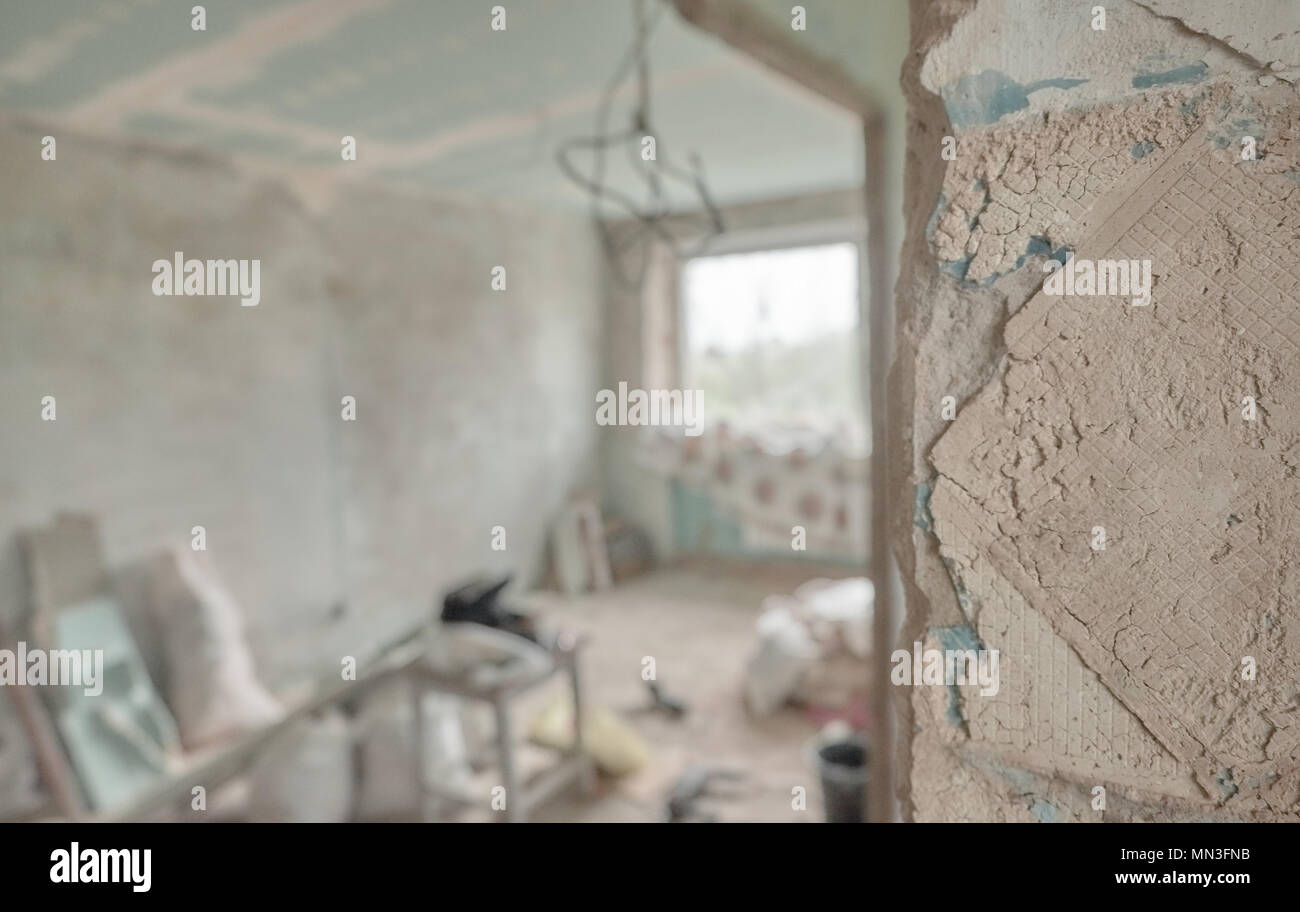 Major overhaul concept. House repairs. Home interior remodeling Stock Photo