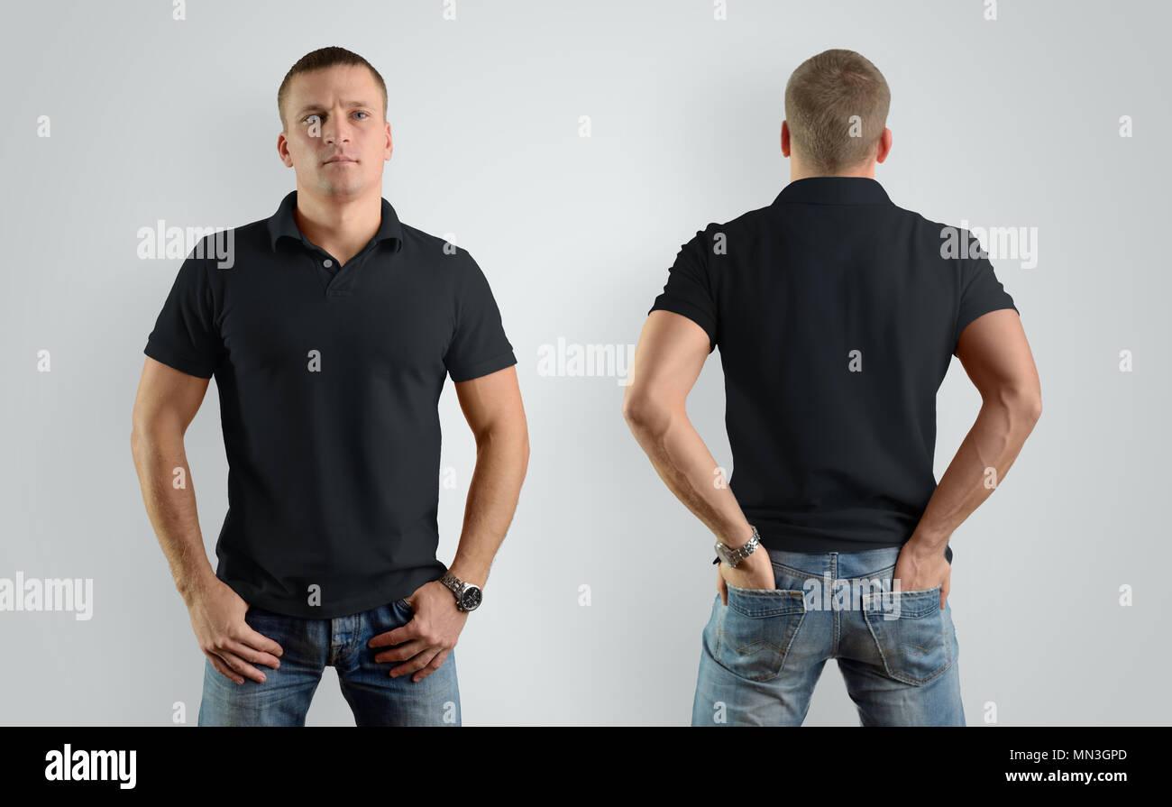 c814755e97e8 Black Polo Shirt Stock Photos   Black Polo Shirt Stock Images - Alamy