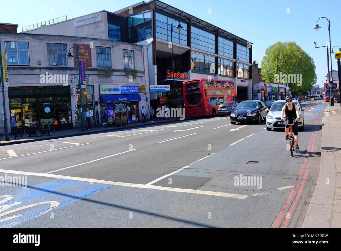 Tooting High Street London SW17 - Stock Image