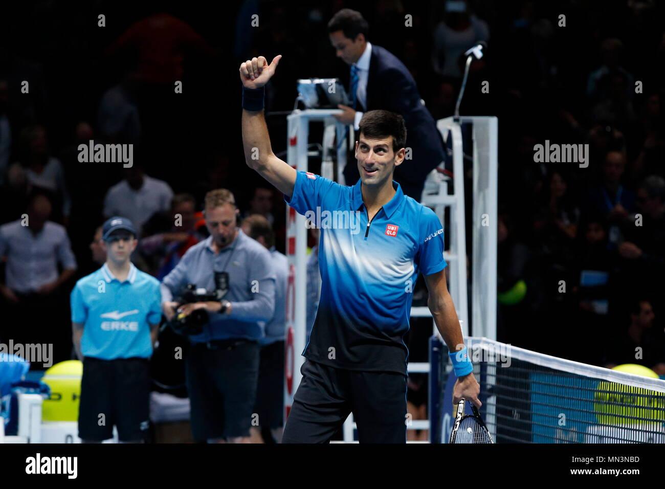Roger Federer Vs Novak Djokovic During The Singles Final Of The 2015