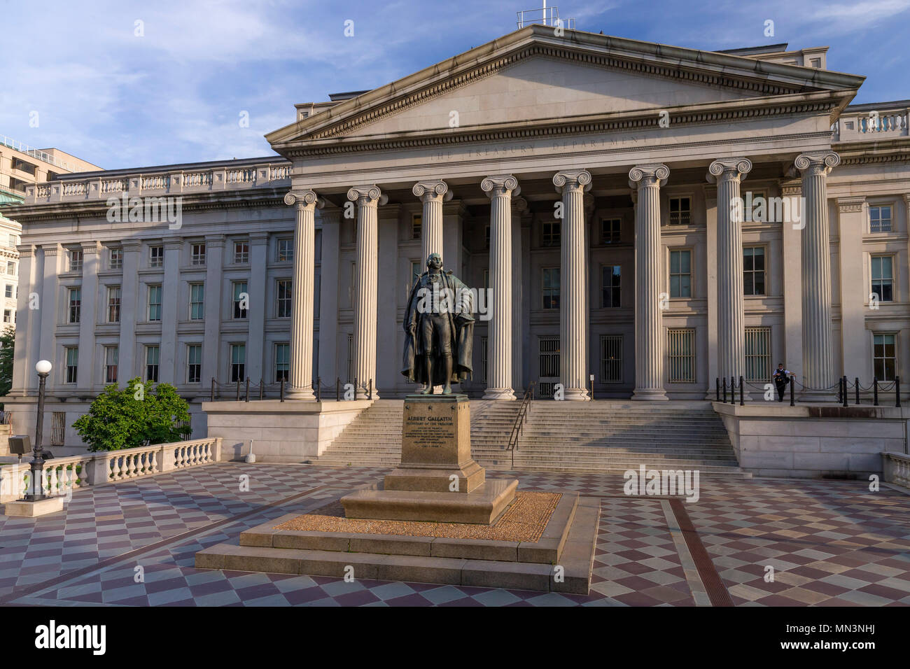 Statue of Albert Gallatin, Secretary of the Treasury, Treasury Department, Washington DC, USA, North America - Stock Image