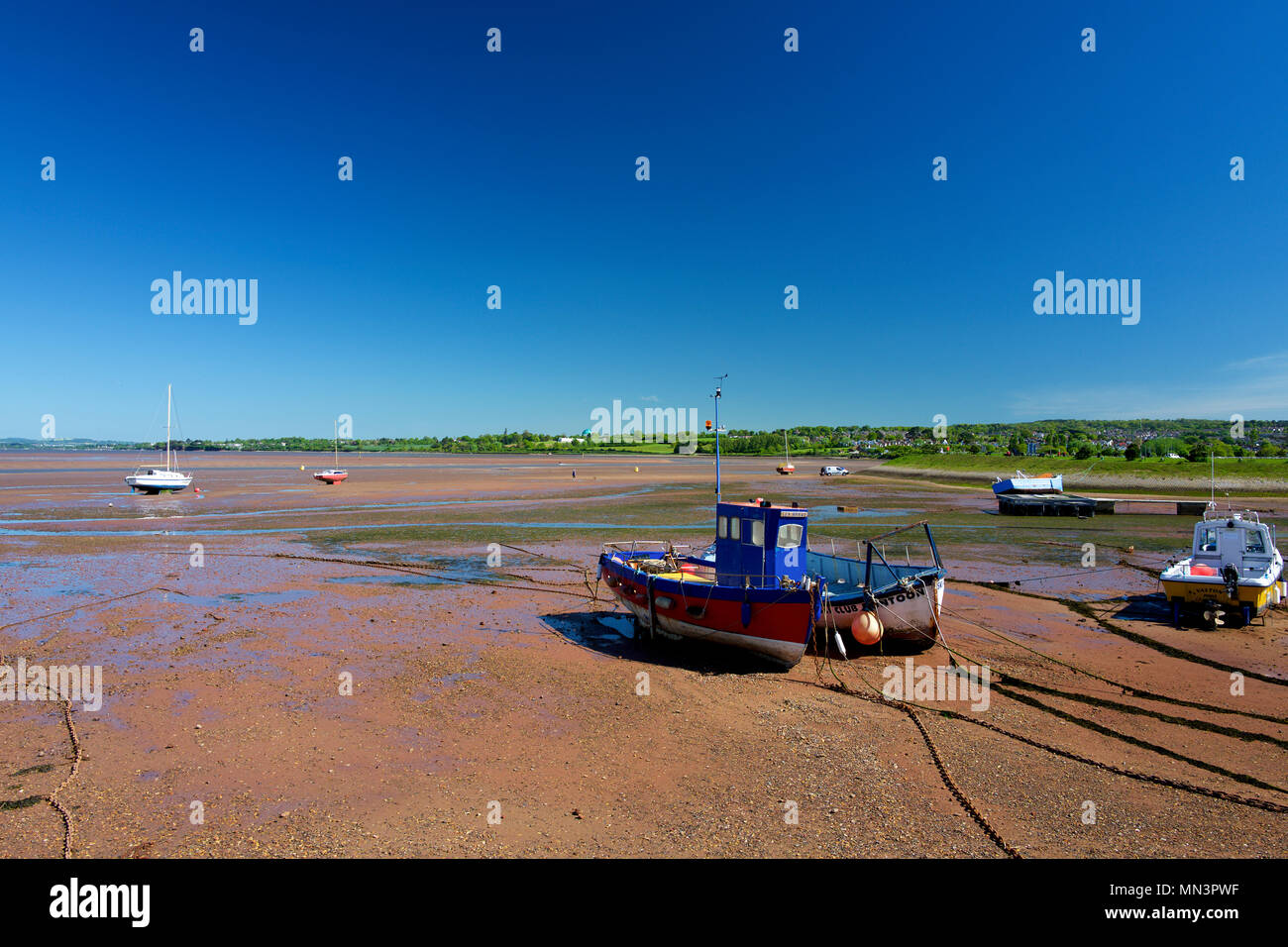 The Exe Estuary from Exmouth, Devon, UK - Stock Image