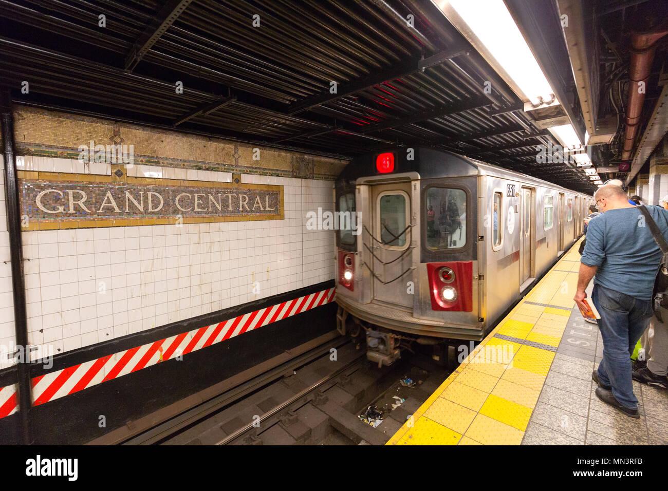 Grand central Subway station, New York subway, Midtown New York city, USA - Stock Image