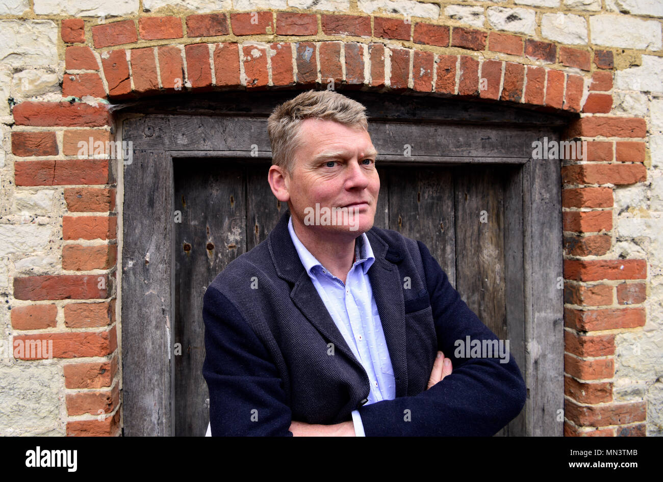 Portrait of Tom Heap (born 6 January 1966), BBC television & radio reporter & presenter best known for BBC 1s Countryfile, Selborne, Hampshire, UK. - Stock Image