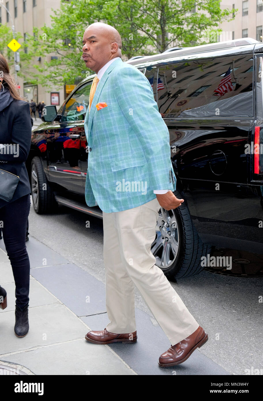 NEW YORK, NY - MAY 15: David Alan Grier is arriving at the 2017 NBCUniversal Upfront at Radio City Music Hall on May 15, 2017 in New York City.   People:  David Alan Grier - Stock Image