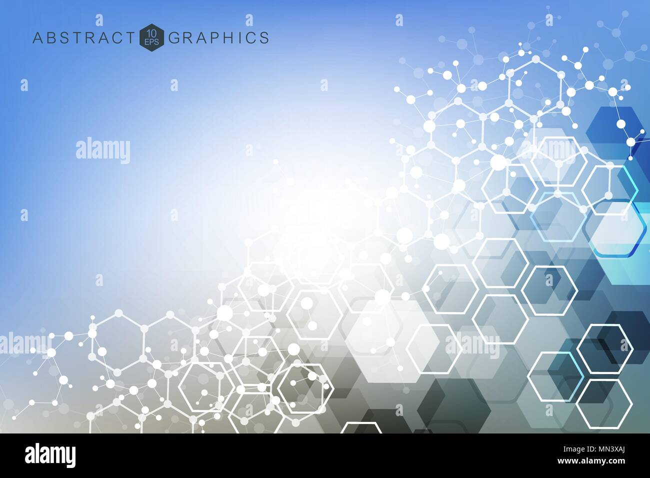 Technology Abstract Background Stock Illustration: Hexagonal Abstract Background. Big Data Visualization