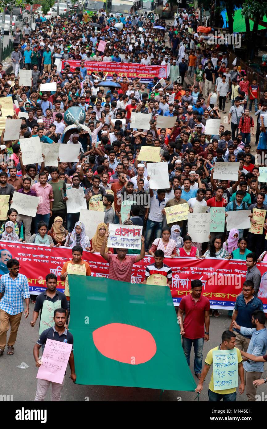 Dhaka, Bangladesh - May 14, 2018, Dhaka University students takes