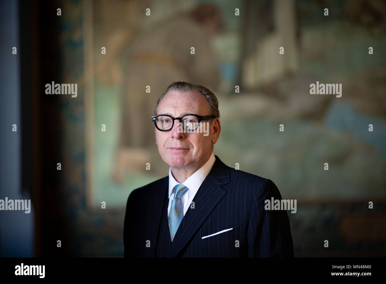 Edinburgh, UK. May  14 2018;    A major joint acquisition by the National Galleries of Scotland and the National Library of Scotland of a significant collection of Scottish photography numbering over 14 000 images and which dates from the 1840s-1940s is announced at the Scottish National Portrait Gallery. Pictured Benny Higgins (Chairman, National Galleries of Scotland), credit steven scott taylor / alamy live news Stock Photo