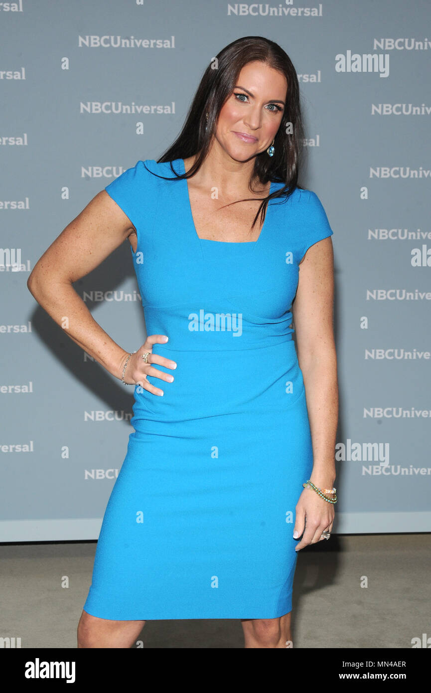 New York, NY, USA. 14th May, 2018. Stephanie McMahon at the 2018 NBCUniversal Upfront at Rockefeller Center in New York City on May 14, 2018. Credit: John Palmer/Media Punch/Alamy Live News - Stock Image