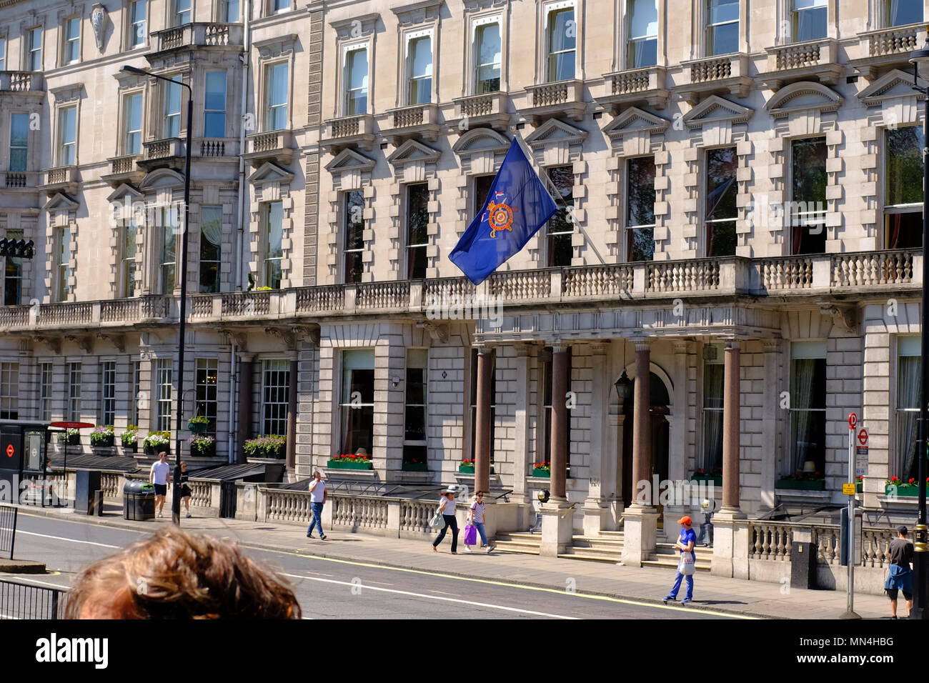 The Cavalry and Guards Club, Piccadilly, London, England, UK - Stock Image