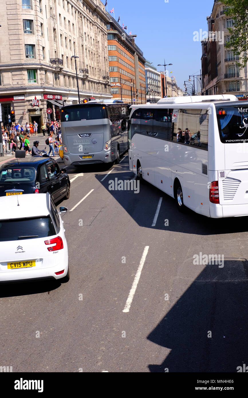 Congestion at Marble Arch London UK - Stock Image