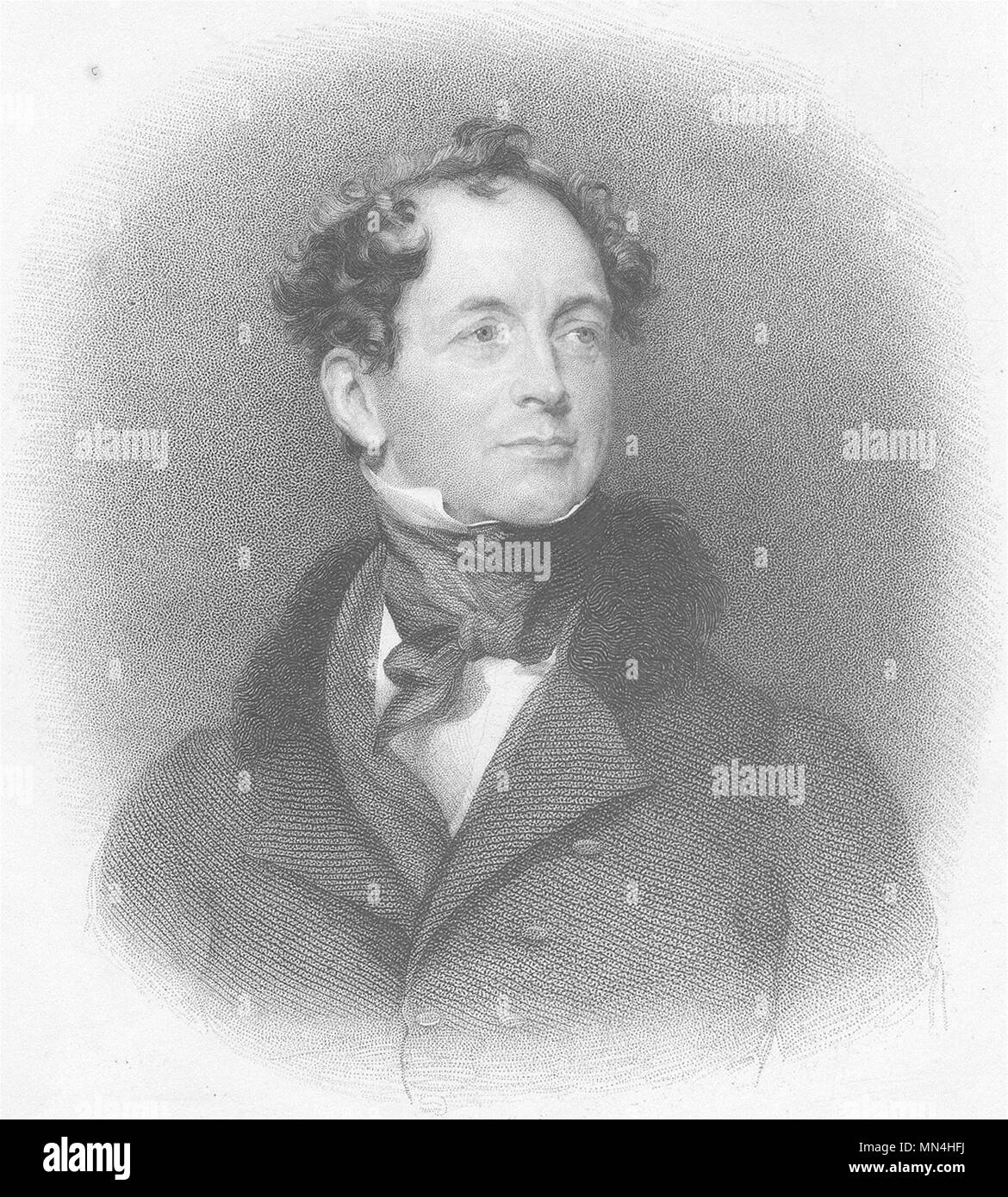 POETS. Thomas Moore ; Finden 1833 old antique vintage print picture - Stock Image
