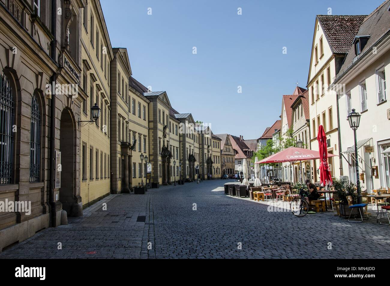 Bayreuth is a city that has historically grown as a Margravial Residence and is in the meantime world famous because of the Richard Wagner Festival. - Stock Image