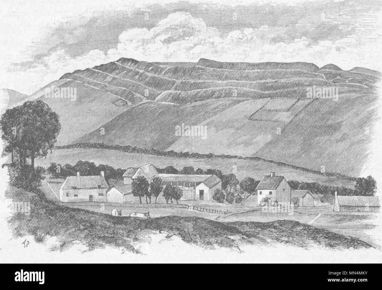 DORSET. Dorchester. Maiden Castle 1898 old antique vintage print picture Stock Photo