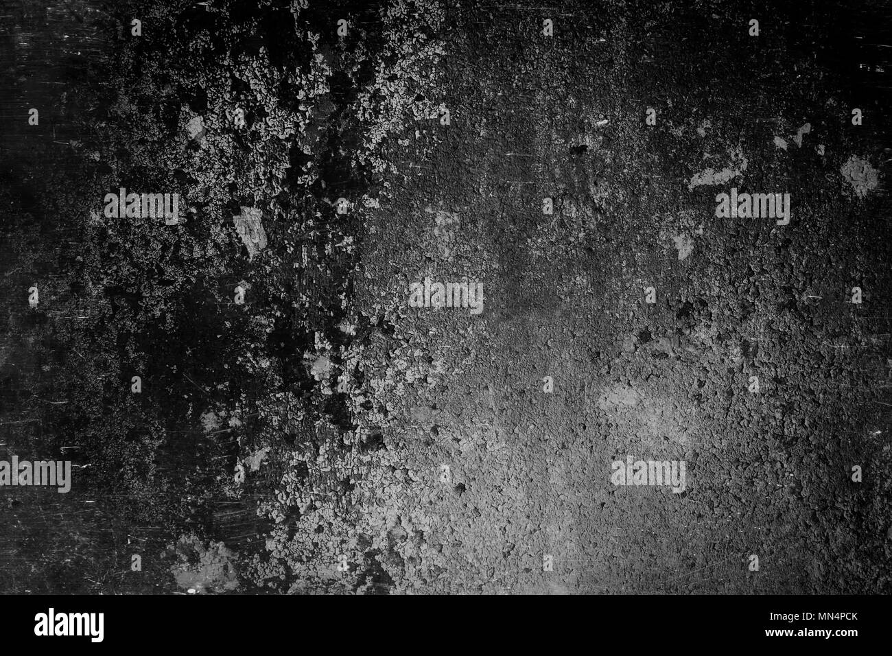 Black and gray wall surface in grunge style. Abstract dashed ...
